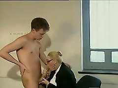 Big dick guy smashes a mature assistant
