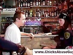 Insatiable femdom police hotties