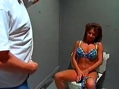 Big tit swimsuit bimbo sextsar Leanna bathroom fuck