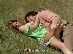 Man Tries to Entice teenage in Meadow (1970s Vintage)