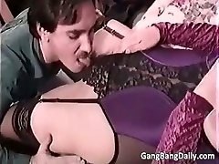 Pregnant mom sucks many hard dicks part5