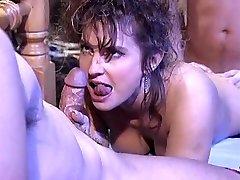 Victoria Paris in 80's pornography orgy