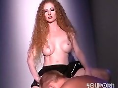 Hot redhead romps a guy