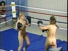 Vintage Sans Bra Boxing Fight