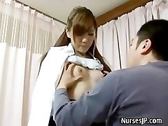 Patient visiting woman japanese doctor
