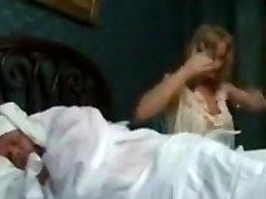 Busty platinum-blonde noblewoman gets fucked