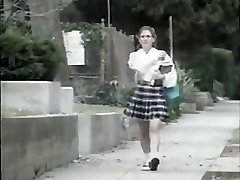 Shy youthful girl gets fucked by nasty stud on her way to school