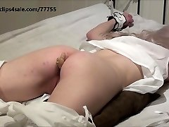 Victorian girl get ginger ache in butt before her spanking