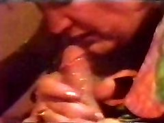 Retro Cumshot Fills Her Mouth With Jism Till It Flows Back Out