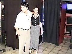Preggo BDSM girl fucked in sexshop