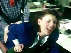 γερμανικά vintage πρωκτικό clip - γραμματέας παίρνει assfucked