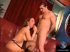 Erotic beauty Maria Belucci closeup fucked on both her tight fuck holes