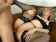 Classic Nina Hartley gets caboose fucked