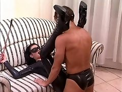 Plumb the milf is dressing a latex catsuit