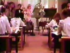 Tutor bangs in front of roomful of Catholic Schoolgirls!