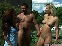 Outdoor Swinger Urinating
