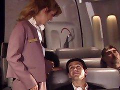 amante de auxiliar de vuelo