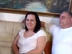 A Fat Boy With Two Women