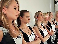 6 mädchen orgie sexfight für die beste maid