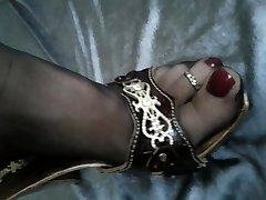 Soles in Nylons shoeplay
