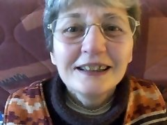 Nerdy Granny Gets a Mouthful of Cum