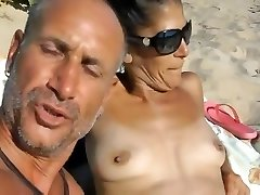 Just a day on the nude beach with lots of fun