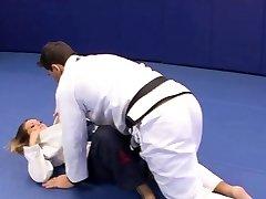 Fabulous Megan Fenox seduces her wrestling coach