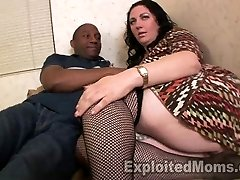 Chubby Milf Orgasms on Black Cock by getting  Plowed Rock-hard