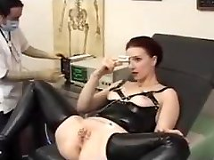 Doctor stretches her tight Ass -ElectroSex and Pierced Cunt