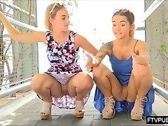 crazy public UPSKIRT chicks
