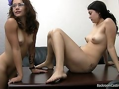Firsttime threesome audition 2