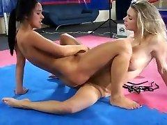 sensual grappling between two gorgeous czech girls