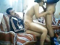 Egyptian bitch fuck between two men