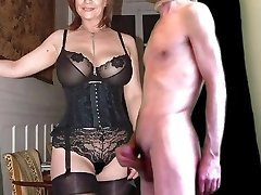hotwife cum for mature buxom wife in stockings