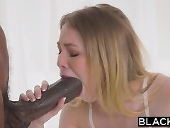 BLACKED Petite blond with the biggest big black cock in the world