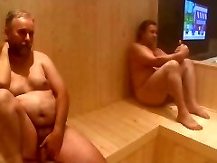 2 Hunks,a bloke shagging in the sauna 2 Milfs - by neurosiss