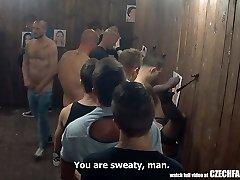 Uncensored Fantasy Orgy at Public Glory Hole Room