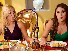 Ashley Fires & JoJo Smooch & Levi Currency in Thanksgiving Fuckfeast - Brazzers