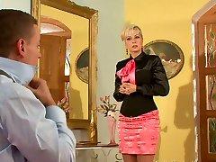 Tempting blondie gets banged from behind