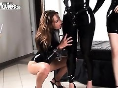 2 latex honies love playing with their victim