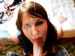 Gorgeous Female Receives A Thick Facial