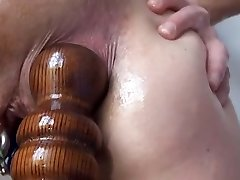 Extraordinary Ass-fuck Fucking Insertions Fisting self Bedpost