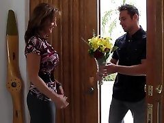 Bringing flowers to his hottest buddy's mommy