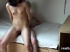 Attractive czech sex addict is lured in the hypermarket and sh