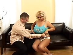 Busty blonde gets fucked