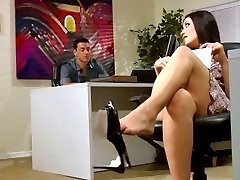 A Kimberly Kane Sexy office footjob e boquete