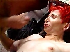 Ugly Redhead Gets A Faceful Of Baby Juice