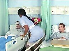 Blanca Grande Polla Follar Ébano Enfermera Jasmine Webb