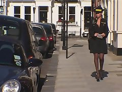 Blonde Britse Traffic Warden Anale