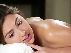 Lésbica quente babe massagem